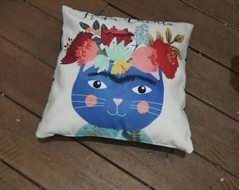 Decoative Cat Frida Pillow