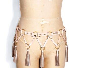 Leather Tassel Belt