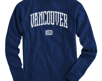 LS Vancouver 604 Tee - Long Sleeve T-shirt - Men and Kids - S M L XL 2x 3x 4x - Vancouver Shirt, BC, Canada - 4 Colors