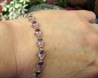 Sterling Silver Pale Amethyst Bracelet