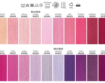 100 g Catania by Schachenmayr, 100% Cotton, all colors in stock