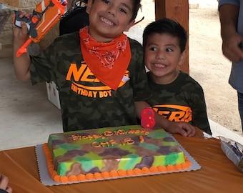 Nerf Birthday Cake Edible Decoration Set Nerf Logo Nerf