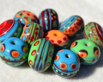 Artisan Lamp Work Beads- Lot 452