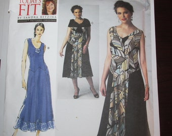 Vogue V1391 Sandra Betzina Today's Fit Sleeveless DRESS and Capelet One Size UNCUT 1391