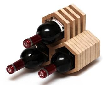 Wooden wine rack / Wine holder wooden / Wine table stand / Bottle holder wood / Wine collection rack / Honeycomb rack / Sommelier gift  sc 1 st  Etsy & Honeycomb wine rack | Etsy