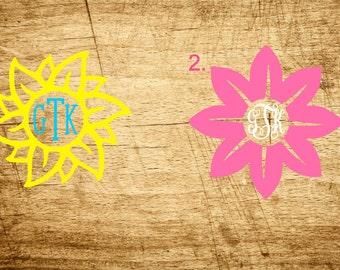 Flower Monogram Decals