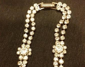 1950 Vintage Crystal Wedding Bracelet