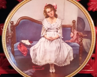 "Norman Rockwell Collectors Plate ""Waiting for the Dance"" 1993"