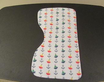 """Burp Cloth """"Sailboats, Anchors"""""""
