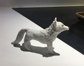 White Winter Wolf Figure
