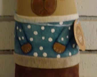 SALE,Bear,Teddy Bear,Primitive Art Doll,Decorative Cushion Doll,Softie,Art Doll,Folk Art Doll,Folk Art Doll,Ornie,Whimsical,Cloth Doll