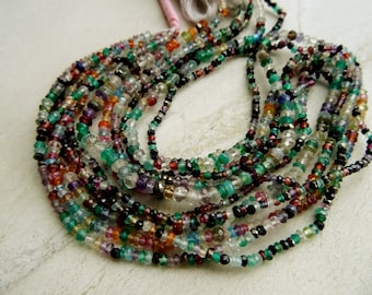 2 TO 5  mm Natural Multi Semi Precious Faceted Rondelle Full 13 inch strand-AAA,Un-beleivale Price