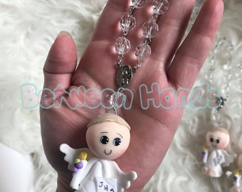Rosary for First Communion, First Communion keepsakes, First communion denary, First Communion rosary,