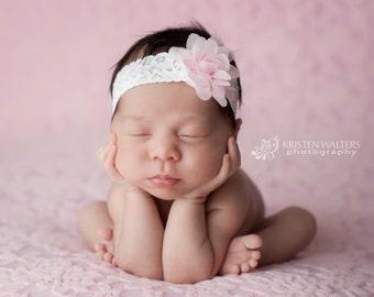Newborn Headbands, Pink Newborn Headband, Pink Baby Headband, Pink Headbands, Baby Hair Bows, Toddler Headbands