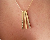 Bar Necklace, Name Neckla...