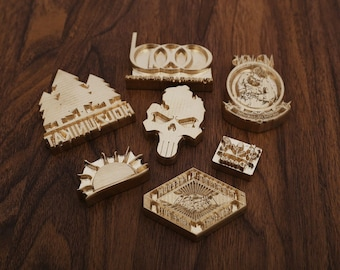 Customized  Brass Stamp  for wood, food, leather with screw on back