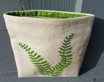 Reusable Snack Bag: Ferns