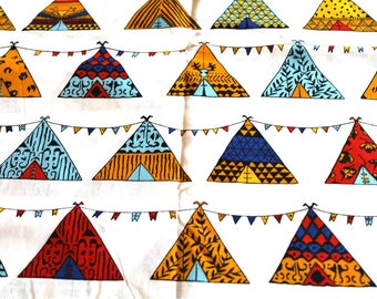 Fabric coupon 50 x 70 cm Teepees