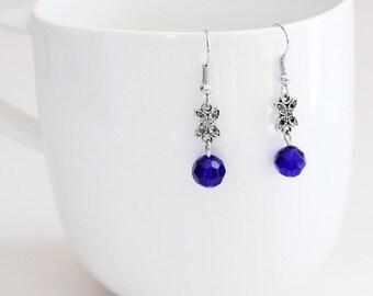 Butterfly & Blue Earrings