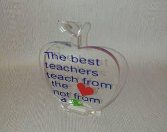 Teacher gift, teacher apple gift, Christmas teacher present, best teacher