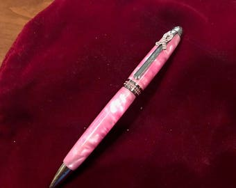 Seven Gorgeous Pink Breast Cancer Awareness Pen with Genuine Swavorski Crystals   ( 1308 1310 1311 1312 1313 )