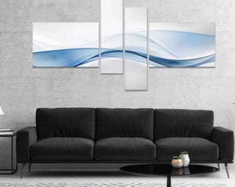 3D Wave of Water Splash - Landscape  Abstract Canvas Art Print and Metal Wall Art Available in Different Sizes (PT8138)