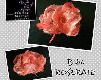 Lee Masset hair accessory rose fascinator