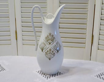 Vintage Garden Terrace Coffee Pot Harmony House Flowers Leaves Green Brown Replacement PanchosPorch