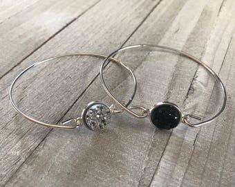 Druzy Bangle Bracelets