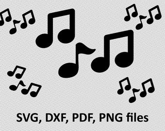 Music notes SVG / Music notes DXF / Music notes Clipart / Music notes Files, cutting, DXF, Music notes vector, Music notes shape silhouette