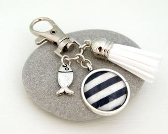 SAILOR BLUE - PC006 BAG CHARM KEY RING