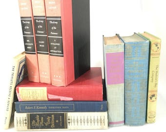DECORATIVE Eclectic Antiqued Set of Books for Display
