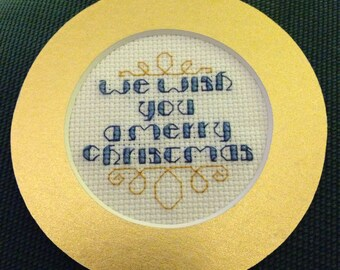We Wish You a Merry Christmas Cross Stitch Ornament