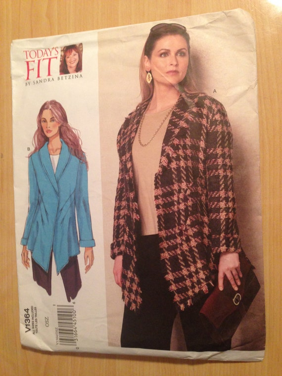 Vogue Sewing Pattern 1364 Misses Jacket Bust Size 32-55