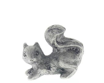 Charming Little Baby Squirrel Pewter Figurine