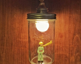 The little Prince lamp made with recycled materials