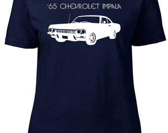 Chevrolet Impala '65. Ladies semi-fitted t-shirt.