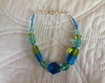 Oceanic Paradise Handmade Glass Stone Bracelet