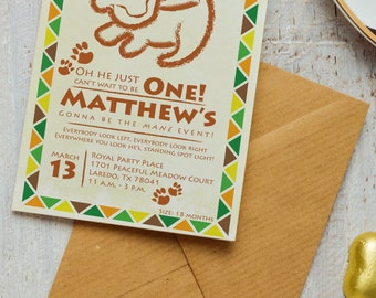 Lion King Invitation