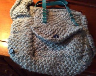 Light Blue Knitted Handbag