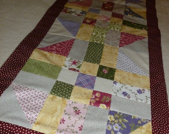 Springtime Patchwork Quilted Table Runner