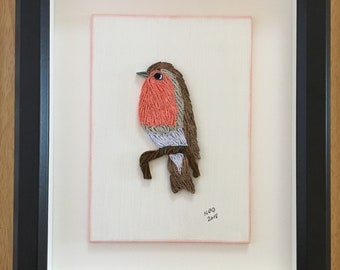 Quilled Robin - Framed Bird Art