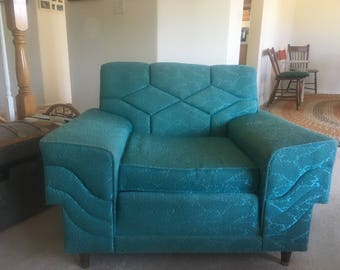 1950s Turquoise Chair