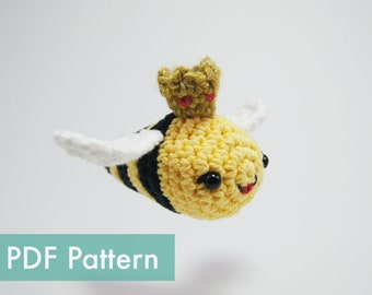 Queen Bee Crocheted Amigurumi PDF Pattern