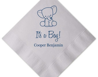 It's a Boy Elephant Baby Shower Napkins