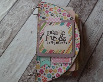 Photo Album/Mini Peace semicircle 27 x 13.5 cm