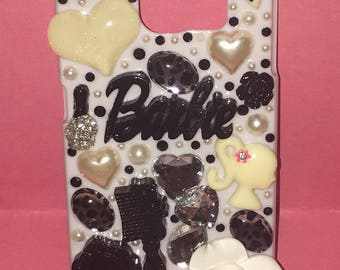 Samsung Galaxy S6 Black and White Girly Phone Case