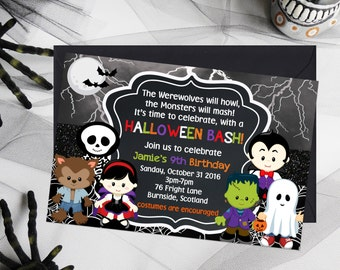 Kids party invite etsy kids halloween invitations kids birthday party invitations halloween birthday invitations kids party printables stopboris Gallery