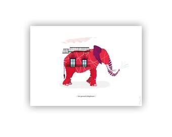 The large elephant (15x21cm)
