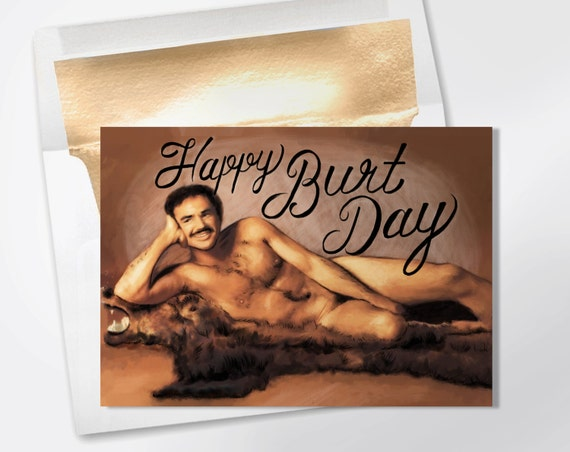 Birthday Card Happy Burt Day Funny Birthday Card Funny